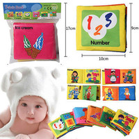 Intelligence development Cloth Cognize Book Educational Toy for Kid Baby Gift ls