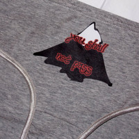 You Shall Not Pass Panties. Lord Of The Rings Inspired Ladies Underwear. Customize By Size, Style and Color.