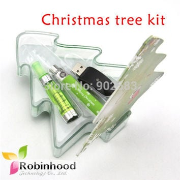 High Quality China Supply Christmas Tree e cigarette, ego ce4 christmas ecigs CE5 ego gift set very popular 10pcs/lot