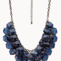 Glam Faceted Stone Bib Necklace