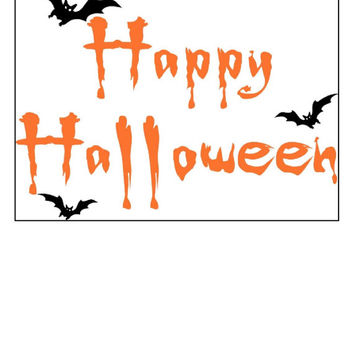 Instant Download, Happy Halloween, Spooky, Bats, Halloween Decor,  PDF Pattern, Cross Stitch Pattern