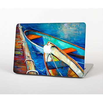 The Colorful Pastel Docked Boats Skin Set for the Apple MacBook Air 11""
