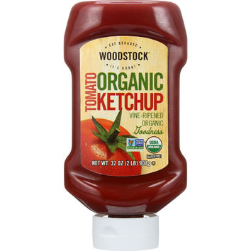 Woodstock Ketchup - Organic - Tomato - 32 oz - case of 12