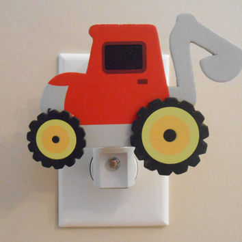Tractor Night Light - Boy Decor - Boy Nursery - It's A Boy - Nursery Decor - Bath Decor