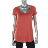 Adriano Goldschmied Womens Modal Scoop Neck Tunic Top