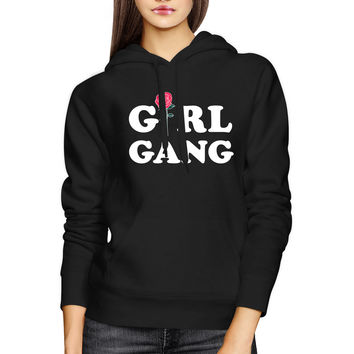 Girl Gang Hoodie Trendy Back To School Hooded Pullover Fleece