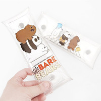 We bare bears clear folding pencil case