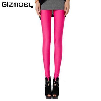 Sexy Solid Candy Neon Plus Size Women's Leggings High Stretched Leggings Fitness Clothing Ballet Dancing Pant  BN070