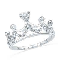 Diamond Accent Tiara Ring in Sterling Silver - Save on Select Styles - Zales