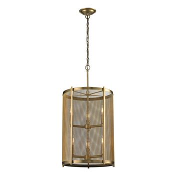 31484/3+3 Rialto 6 Light Pendant In Aged Brass - Free Shipping!