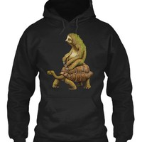 Sloth Riding Turtle Funny Nature