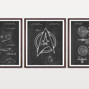 Star Trek Patent - Star Trek Art - Star Trek Enterprise - Star Trek Poster - Star Trek Wall Art - Trekie - Captain Kirk - Klingon Patent