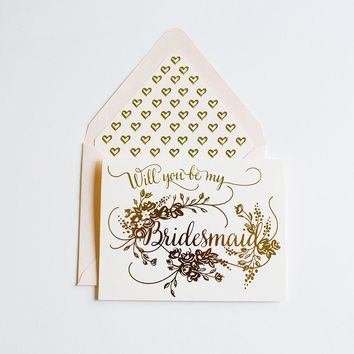THE FIRST SNOW WILL YOU BE MY BRIDESMAID CARD