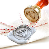 Diamond Gold Plated Wax Seal Stamp x 1