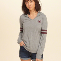 Girls Hooded Graphic Tee | Girls Tops | HollisterCo.com