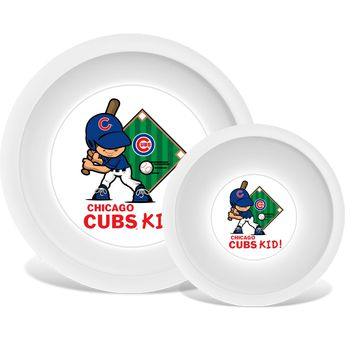 Plate & Bowl Set - Chicago Cubs