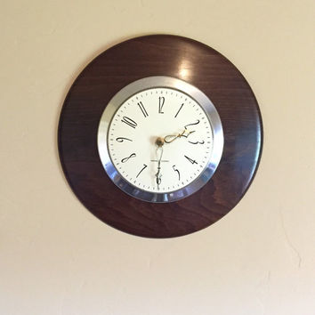 Mid Century Modern General Electric Wall Clock, Vintage General Electric Clock