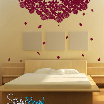 Vinyl Wall Decal Sticker Hanging Flower Roses #GFoster158