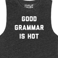 Good Grammar is Hot-Female Tri Cranberry Tank