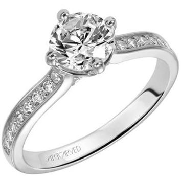 "Artcarved ""Juliet"" Round Cut Classic Diamond Engagement Ring"