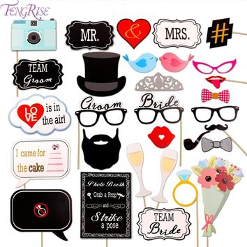 Mr Mrs Photo Booth Props