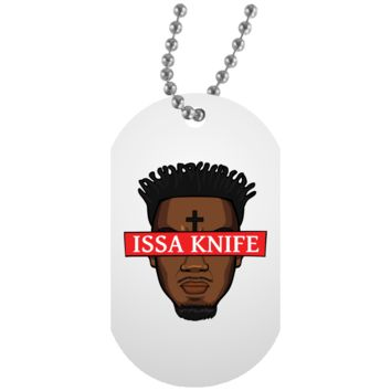Issa Knife ANDIMOTO White Dog Tag