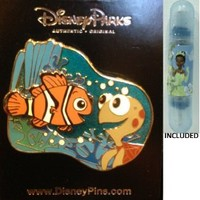 "Disney Parks Nemo & Squirt Trading Pin From Pixar's ""Finding Nemo"" - Disney Parks Exclusive & Limited Availability + Double Sided Princess Stamp Included"