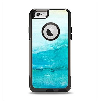 The Grungy Blue Watercolor Surface Apple iPhone 6 Otterbox Commuter Case Skin Set