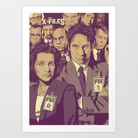 THE X-FILES v1 Art Print by Mike Wrobel