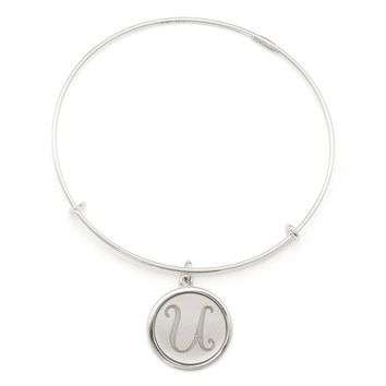 Alex and Ani Precious Initial U Charm Bangle - Argentium Silver