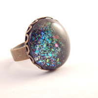 Psychedelic Space Dust Galaxy Ring