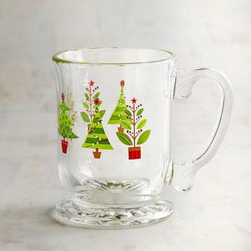 Christmas Tree Glass Mug