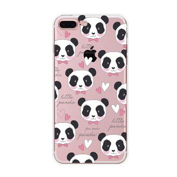 So Cute Panda Case Cover for iPhone X 8 7 6s 6 Plus with Gift Box