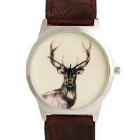 River Island Watch with Stag Print