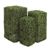 The Green Set Of 3 Polyester Vine Pedestal