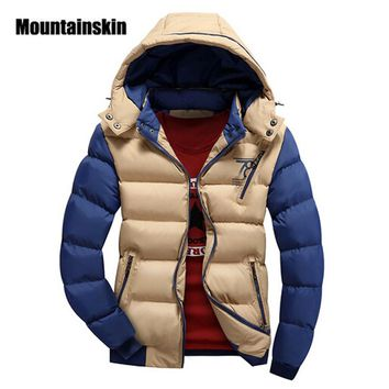 Jacket Men's Parkas Thick Hooded Coats Men Thermal Warm Casual Jackets