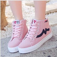 Original Fila Women Sport Runing Shoes Lace Up Breathable Student Flat Sneakers