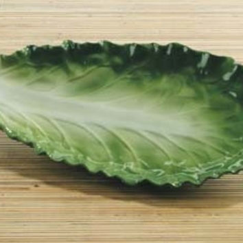 Romaine Lettuce Ceramic Pasta Serving Plate 11.5L