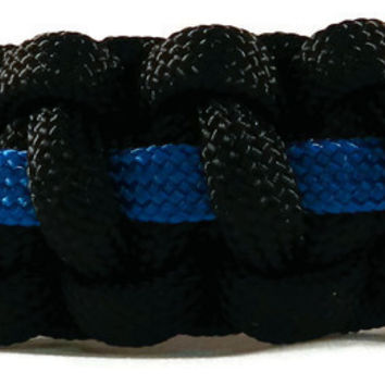 Police Officer Thin Blue Line Paracord Bracelet - Correctional Officer Bracelet