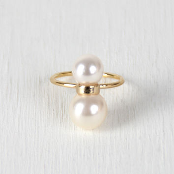 Double Faux Pearl Ring