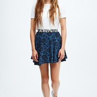 Native Rose Mix Print Skirt in Blue - Urban Outfitters