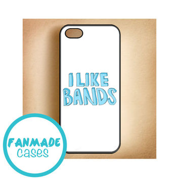 I LIKE BANDS iPhone 4/4s 5/5s/5c & iPod 4/5 Rubber Case