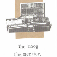 The Moog The Merrier Card Funny Music Gear Synthesizer Pun Gift Musician Indie Rock Prog Humor Cool For Him Men Hipster Geeky Geekery