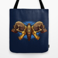 Death's Ahead - Natural Tote Bag by Artistic Dyslexia | Society6