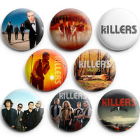 The Killers Pinback Buttons Pins Badges 1.25 inch 8Pcs New