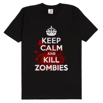 Keep Calm and Kill Zombies T-Shirt-Unisex Black T-Shirt