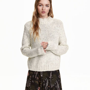 Mock-turtleneck Sweater - from H&M