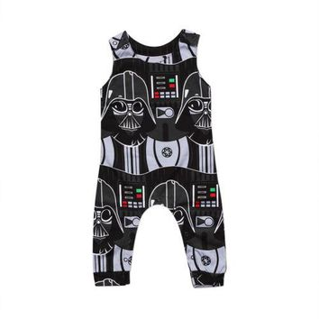 Newborn Infant Kids Baby Boys Star Wars Romper Jumpsuit Clothes Outfits Toddler Boy Girls Print Sleeveless Rompers Clothing Soft