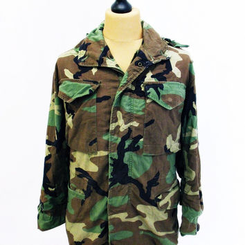 Vintage US ARMY Camo M65 Jacket XS Extra Small