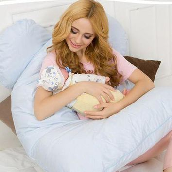 ac NOOW2 Body Pillows Sleeping Pregnancy Pillow Belly Contoured Maternity U Shaped Removable Cover 130*70cm